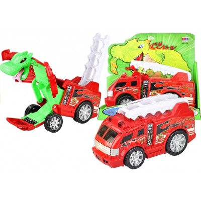 Hasičské autíčko - transformers červené
