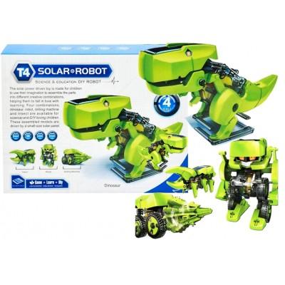 Dinosaurus na solárny pohon 4v1 zelený