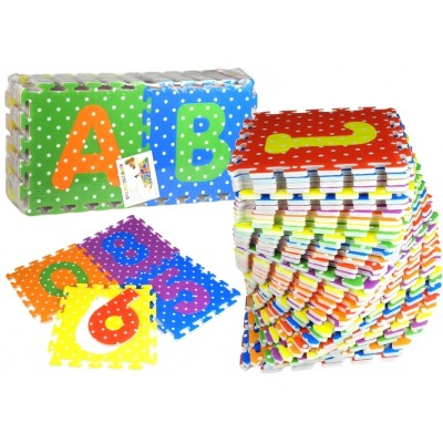 Puzzle abeceda - farebné