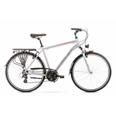 Krossový bicykel 28 Romet Wagant 1 Strieborno-červený