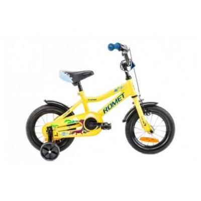 Detský bicykel 12 Romet Tom Žlto-modrý