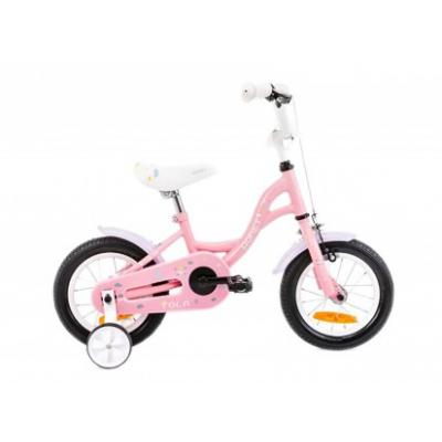 Detský bicykel 12 Romet Tola Ružovo-biely