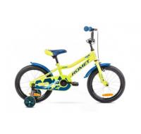 Detský bicykel 16 Romet Tom Zeleno-modrý