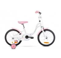 Detský bicykel 16 Romet Tola Bielo-ružový