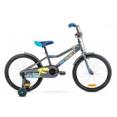 "Detský bicykel 20"" Romet Tom Antracitovo-žlto-modrý 10"""