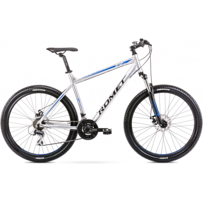 """Horský bicykel 27,5"""" Romet Rambler R7.1 strieborno-modrý L hliníkový 19"""""""