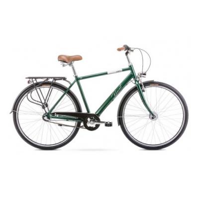 """Mestský bicykel 28 Romet Grom Hliníkový 3-prevodový Nexus 20"""" Zelený"""