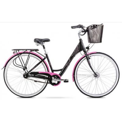 Mestský bicykel 28 Romet Moderne 7-prevodový Čierno-ružový
