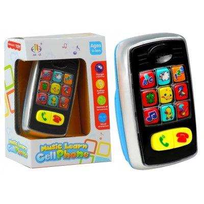 Detský mobilný telefón so svetielkami biely