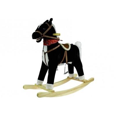 Hojdací koník so zvukmi Mustang 74 cm - čierny