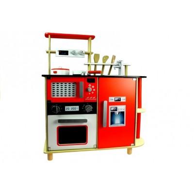 Detská drevená kuchynka Źofia - červená