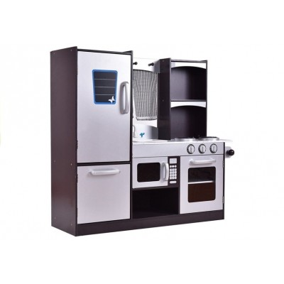 Detská drevená kuchynka s chladničkou