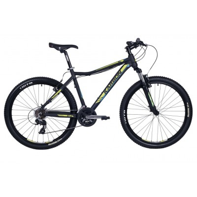 """Horský bicykel 27,5"""" Karbon Trail R3 17"""" Čierno-žlto-modrý"""