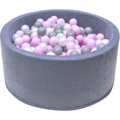 Suchý bazén s loptičkami Welox fun - ružové loptičky, sivý
