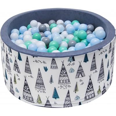 Suchý bazén s loptičkami Welox fun - stany, modrý