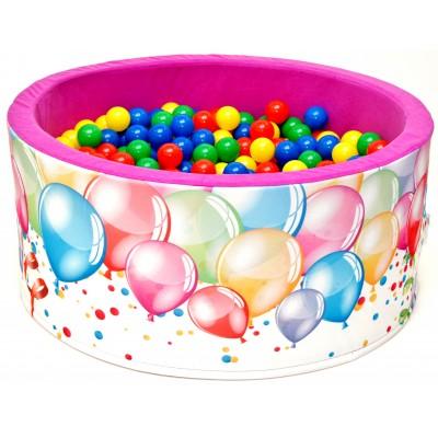 Suchý bazén s loptičkami Welox fun - balóny, ružový