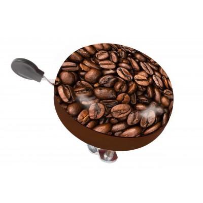 Zvonček oceľ. Ding-dong káva hnedý