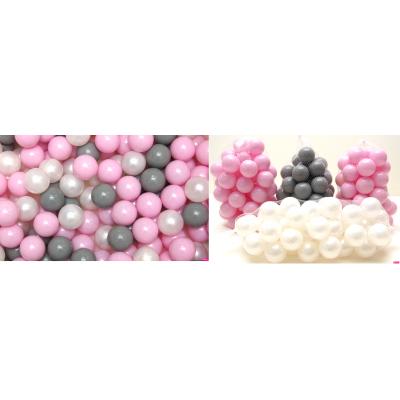 Loptičky do suchých bazénov Welox (200ks) - ružová 2x, sivé, biela