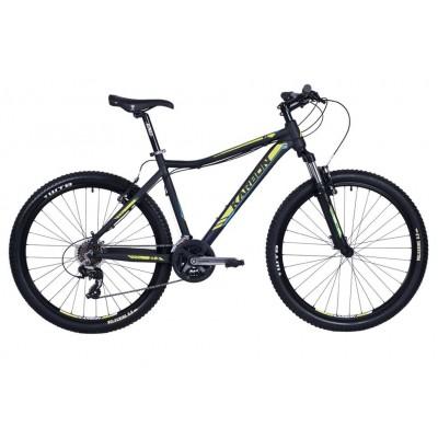 """Horský bicykel 27,5"""" Karbon Trail R3 Hliníkový 17"""" Čierno-žlto-modrý"""