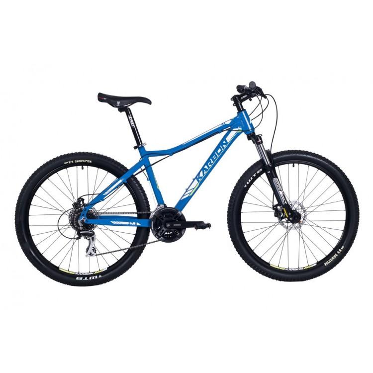 """Horský bicykel 27,5"""" Karbon Trail R4 Hliníkový 19"""" Modro-zeleno-biely"""