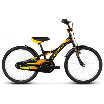 Detský bicykel 20 Kross Eli Čierno-žlto-oranžový