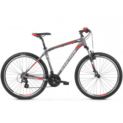 """Horský Bicykel 26'' Kross Hexagon 2.0 S 17"""" Grafitovo-strieborno-červený, matný"""