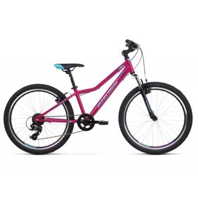 """Detský bicykel 24"""" Kross Lea JR 1.0 ružovo-modro-fialový"""