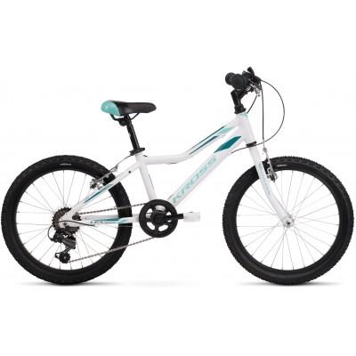 Detský bicykel 20 Kross Lea Mini 1.0 D bielo-tyrkysový
