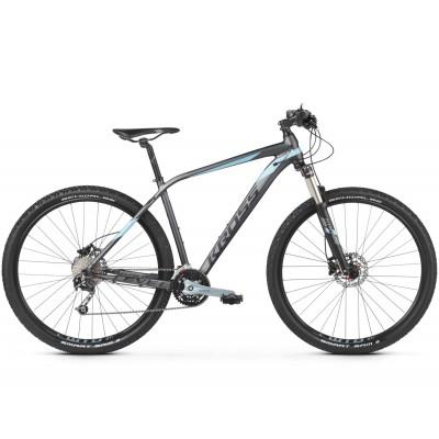 Horský bicykel Kross 29 Level 5.0 M Grafitovo-modro-čierny matný
