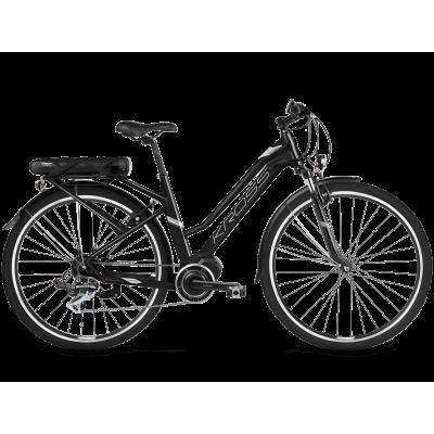 """Elektrický bicykel 28"""" Kross Trans Hybrid 2.0 D 19"""" Čierno-strieborný, matný"""