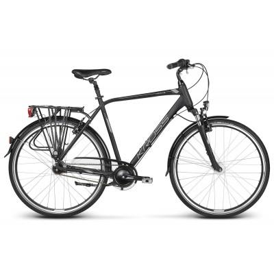 Trekingový bicykel 28 Kross Trans 6.0 Pánsky L Čierno-strieborný matný