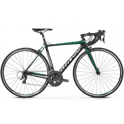 Cestný bicykel Kross 28 Vento 6.0 L Čierno-zelený matný