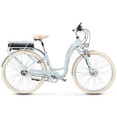 """Elektrický bicykel 28"""" Kross Le Grand eLille 2 D 7-prevodový 19"""" L Sivo-krémový, matný"""