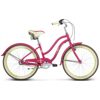 "Detský bicykel 24"" Le Grand Sanibel Jr 14"" matný ružovo-zelený"
