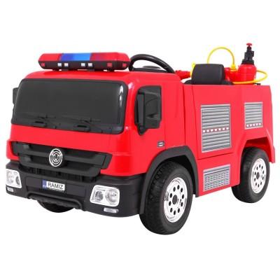 Elektrické autíčko - hasičské - červené