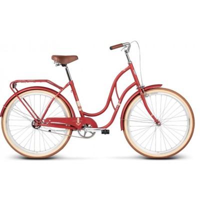 """Mestský retro bicykel Kross 26'' Le Grand Madison 1 18"""" červený"""