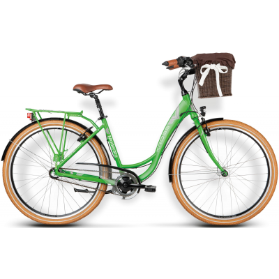 "Mestský bicykel 28"" Kross Moderato 3-prevodový Hliníkový 19"" L Zelený, matný"