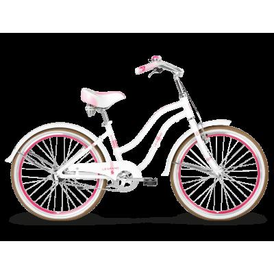 "Detský bicykel 24"" Kross Le Grand Sanibel JR 14"" bielo-ružový"
