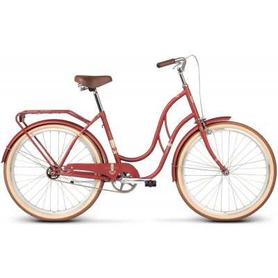 "Mestský retro bicykel Kross 26'' Le Grand Madison 1 18"" matný, červený"