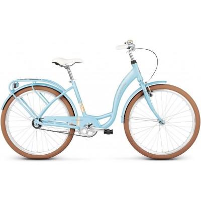 """Mestský retro bicykel Kross 26'' Le Grand Lille 1-prevodový 19"""" M Modrý"""