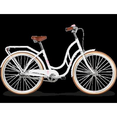 "Mestský retro bicykel Kross 28'' Le Grand Madison 2 18"" biely, lesklý"