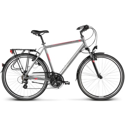 "Trekingový bicykel 28 Kross Trans Atlantic M 19"" lesklý, grafitovo-červený"
