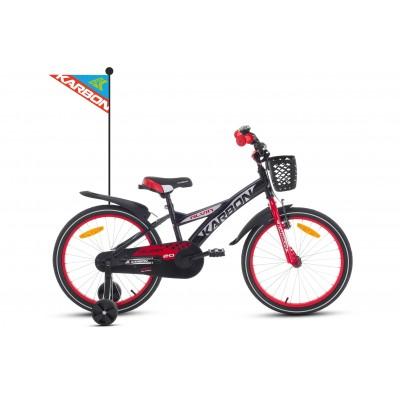 Detský bicykel 20 Karbon Alvin Čierno-červený