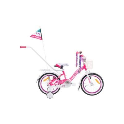 Detský bicykel 16 Karbon Kitty Ružovo-biely