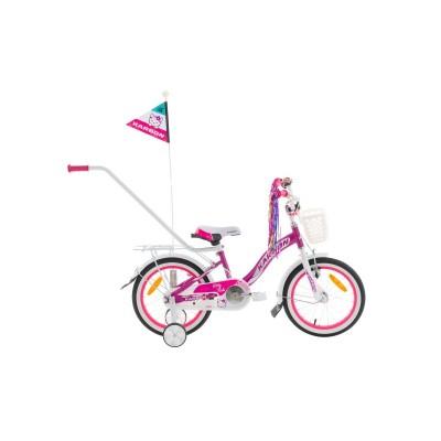 Detský bicykel 16 Karbon Kitty Fialovo-biely