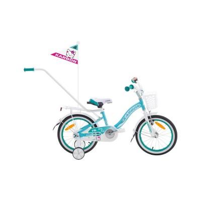 Detský bicykel 16 Karbon Kitty Tyrkysovo-biely