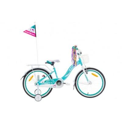 Detský bicykel 20 Karbon Kitty Tyrkysovo-biely