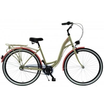 """Mestský bicykel 28 Kands S-Comfort 3-prevodový Nexus 18"""" Zlato-lososový matný"""