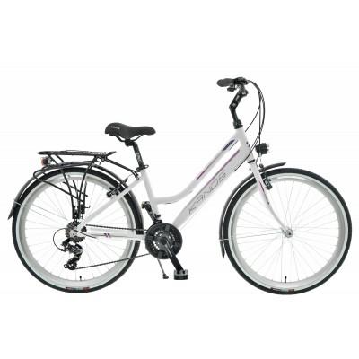 """Retro Bicykel 26 Kands Venus Tourney - Hliníkový 15"""" Bielo-fialový"""