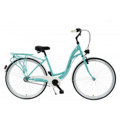 """Mestský bicykel 28 Kands S-Comfort 3-prevodový Nexus 18"""" lesklý Mätovo-biely"""